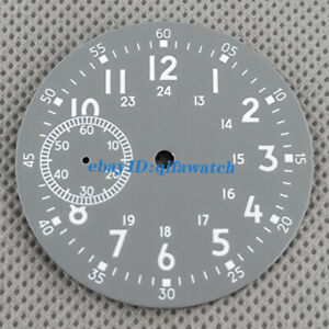 38.9mm sterile Green Luminous gray watch Dial Fit ETA 6497 Seagull st36 Movement