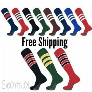 TCK All sport Baseball Softball Pro Dugout Series Knee High Long Striped Socks