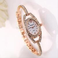 Fashion Women's Bracelet Stainless Steel Crystal Dial Quartz Watch Wrist Watches
