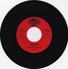 """The Five Satins """"Candlelight"""" & """"This Time"""" 1960 Ember 1066 Looks VG++ Plays NM"""