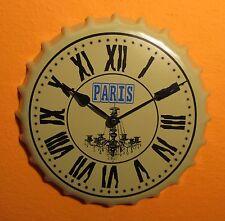 """Retro Metall Wanduhr Uhr Wohnzimmeruhr Partyuhr 35,5cm """"Schönes Design"""" °79/3184"""