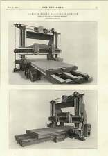 1914 Armour Plate Planing Machine Thomas Shanks Johnstone