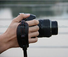 Hand Grip Leather Strap for Canon Nikon Sony Pentax DSLR w/ Metal Tripod PLate