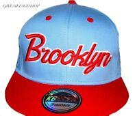 Brooklyn snapback caps, fresh retro vintage urban baseball hip hop blue hats