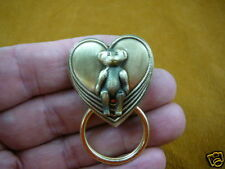 (#E-479) Teddy bear lover Eyeglass pin pendant ID badge holder