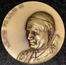 POPE JOHN PAUL II / MESSENGER OF PEACE BRONZE MEDAL (M.**)