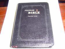 """VERY GOOD COND"" PILGRIM BIBLE KING JAMES VERSION GENUINE BLACK LEATHER (2001)"