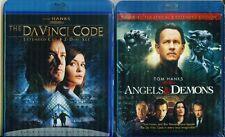 Da Vinci Code 1+2 Angels & Demons: Extended Editions-Tom Hanks-New 4 Blu Ray