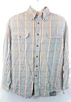 Duck Head Men's Plaid Button Down Long Sleeve Shirt 100% Cotton Size XL