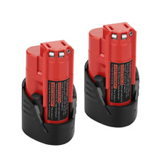 2Pack M12 12V 2 5Ah Lithium-ion Replace Battery for Milwaukee M12 48-11-2420 ...