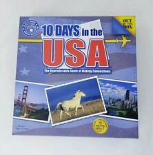 10 Days In The USA Board Game Alan R Moon. 100% COMPLETE. Excellent Condition.
