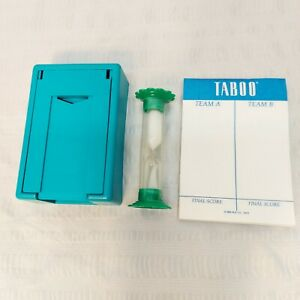 TABOO GAME (c) 1989 – Replacement Part - CARD HOLDER & TIMER & score sheet pad