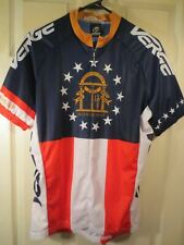 New listing Verge Sport STATE OF GEORGIA FLAG 3/4 Zip S/S Cycling Jersey Men's Size Large