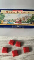 Parker Advance To Marble Arch Board Game Replacement 5 Red Hotel Tile Only Spare