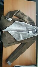 VINCE NWT $1475 Cascade Genuine Shearling Open Front Jacket Olive S