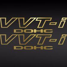 (2) Toyota Tech TRD VVT-I DOHC Vinyl Decal Car Window Sticker Supra GOLD