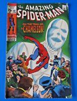 AMAZING SPIDER-MAN #80 ~ MARVEL BRONZE COMIC 1970 ~ THE CHAMELEON ~ FN
