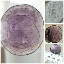 Victorian Amethyst glass Intaglio wax Seal Armorial Douglas Clan Family Crest