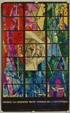 Affiche JACQUES VILLON 1962 METZ VITRAUX CATHEDRALE - MOURLOT