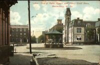 Martinsburg WV Street Scene c1910 Postcard #1 Public Square
