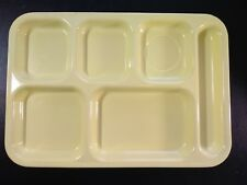 Dallas Ware Yellow Melamine Divided Cafeteria School Lunch Tray Vintage