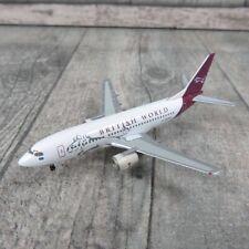HERPA 560313 - 1:400 - British World Boeing 737-300 G-OBWZ - Länge = 8 cm#P22412