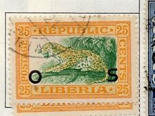 Liberia 1921-24 Early Official Issue Fine Used 25c. Optd 164144