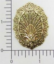 13813          2 Pc  Brass Oxidized Victorian Clamshell Jewelry Finding