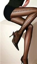 SHEER BLACK HEART NEW QUALITY TIGHTS PANTYHOSE FAST FREE POST