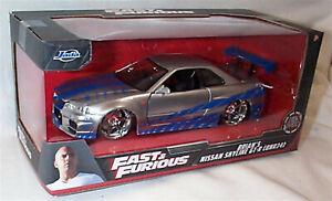 Fast & Furious Brians Nissan Skyline GT-R BNR34 Jada 97158 RB 1:24 opening parts