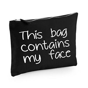 This bag contains my face Make-Up Bag / Accessories case fun gift - Medium