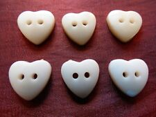 1000 un 6 mm Mini Diminuto Corazón Forma Mezclados Botones de costura de plástico muñeca ropa 2 Ho