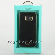 Kate Spade Samsung Galaxy S7 Edge Wrap Case Snap Cover Saffiano Black NEW