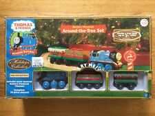 Thomas & Friends Wooden Railway Train Holiday Around The Tree Set - Used