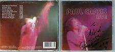 RARE CD IMPORT AUSTRALIENNE PAUL CAPSIS LIVE + BELLE DÉDICACE