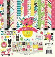 Summer Fun Vacation Sun Play Summertime Echo Park Scrapbook Page Kit 12 x 12