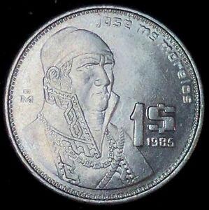 1985 Mexico 1 peso Jose Morelos y Pavon