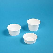 1000 Dressingbecher Soßenbecher Dip Ketchup Becher Dressingcup weiß rund 80ml