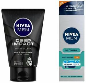NIVEA Men Deep Impact Face Wash,100Gm + Oil Control Cream, 50ml