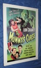 THE MUMMY'S CURSE Universal Studios Theme Park Ride Prop Poster (Monsters/Movie)