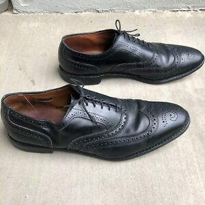 Allen Edmonds MCALLISTER Wingtip Oxfords 14 D Black Leather Dress Shoes