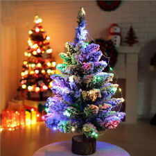 50cm Mini Table Top Snow Christmas Tree Decoration LED Decor Home Xmas Ornaments