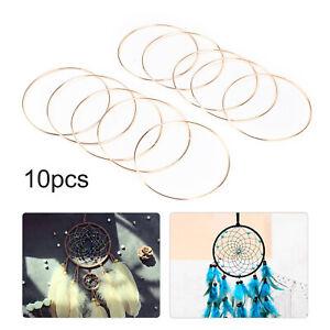 10Pcs Dream Catcher Hoops Gold Metal Dreamcatcher Rings Kit Macrame Craft 15cm