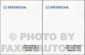 Honda Cr-V Tienda Manual 2001 2000 1999 1998 1997 Reparar Servicio Libro Set OEM