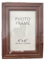 """Photo Freestanding Picture Frame Charlton-Walnut 4""""X 6"""" By Fetco Home Decor New"""