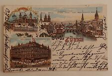 Postkarte Lithographie  Winterlitho Zürich  Ansichtsarte ansehen lohnt