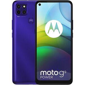 "Refurbished Motorola Moto G9 Power Electric Violet 6.8"" 128GB 4G Unlocked & SIM"