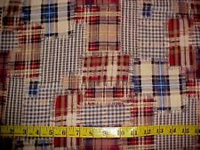 Fabric Tartan Plaid Check Cozy Patchwork Faux Quilt OOP Cotton HOFFMAN by Yard