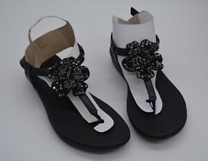 FitFlop Tia Corsage Strap, size 5, Lightweight Toe Thong Sandals