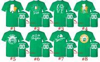 St. Patricks Day T Shirts Customized Text Custom Name Number St Patty Irish Day
